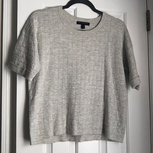 Banana Republic Grey Short Sleeve Sweater